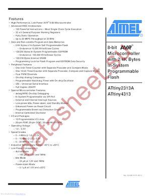 Attiny2313a-pu microchip technology / atmel | mouser united kingdom.