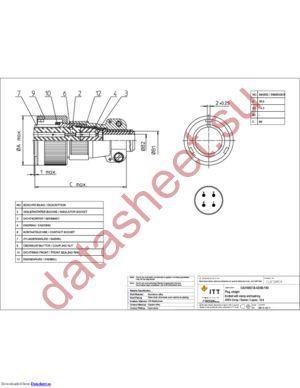 CA3106E18-4SXBF80 datasheet скачать даташит
