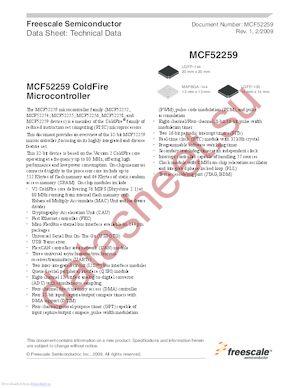 MCF52252 datasheet скачать даташит