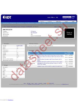 IDT89KTPES32T8 datasheet скачать даташит