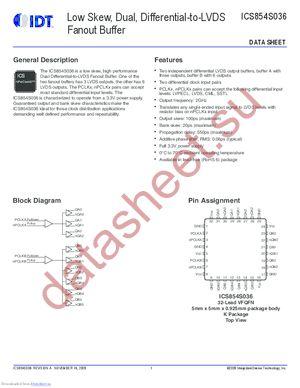 854S036AKLFT datasheet скачать даташит