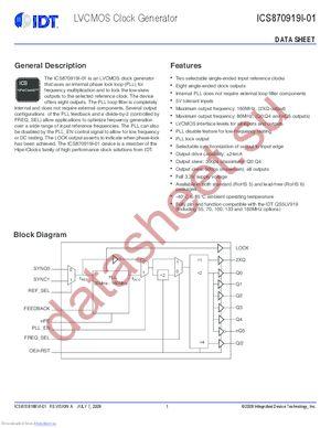 870919BRI-01T datasheet скачать даташит