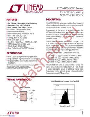 LTC6905CS5-100 datasheet скачать даташит
