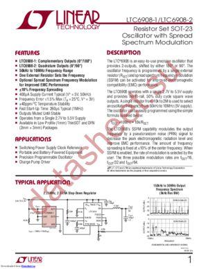 LTC6908CDCB-1 datasheet скачать даташит