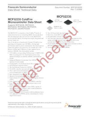 MCF52235DS datasheet скачать даташит