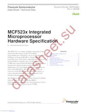 MCF5232CVM100J datasheet скачать даташит
