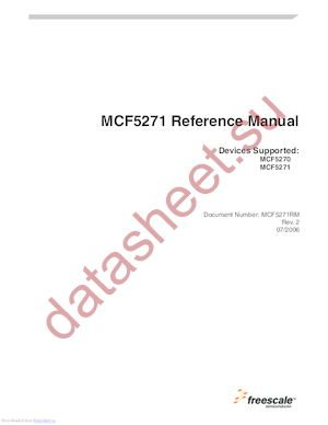 MCF5270VM100J datasheet скачать даташит