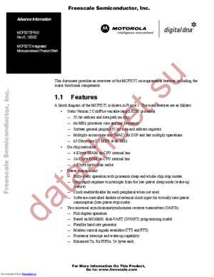 MCF5272VF66J datasheet скачать даташит