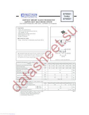 EFM307 datasheet скачать даташит