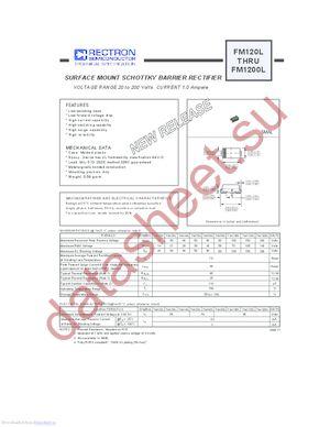FM160L datasheet скачать даташит
