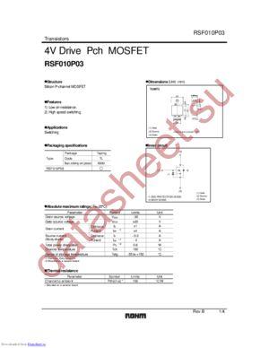 RSF010P03 datasheet скачать даташит