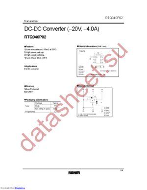 RTQ040P02 datasheet скачать даташит