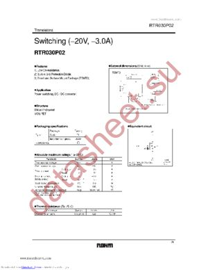 RTR030P02 datasheet скачать даташит