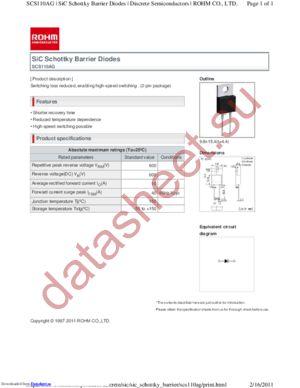 SCS110AGC datasheet скачать даташит