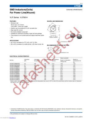 VLP5614T-100MR72 datasheet скачать даташит