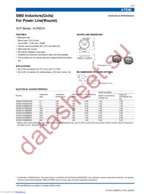 VLP6214 datasheet скачать даташит