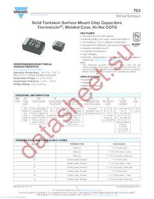 593D337X06R3E2W datasheet скачать даташит