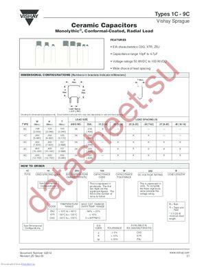 2C40X7R334K050B datasheet скачать даташит