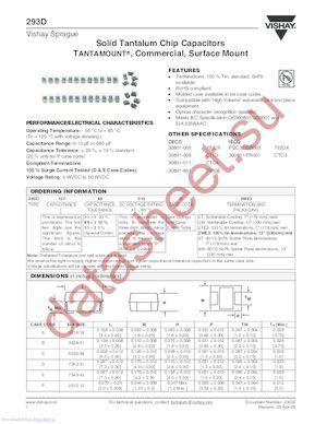 293D476X9016D2T datasheet скачать даташит