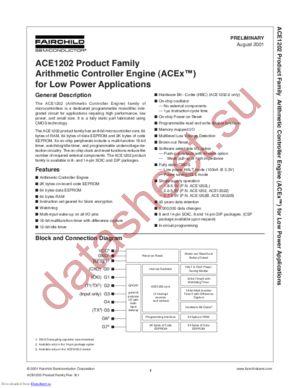 ACE1202BEN datasheet скачать даташит