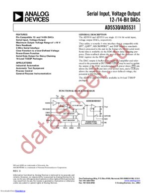 AD5531BRUZ-REEL71 datasheet скачать даташит