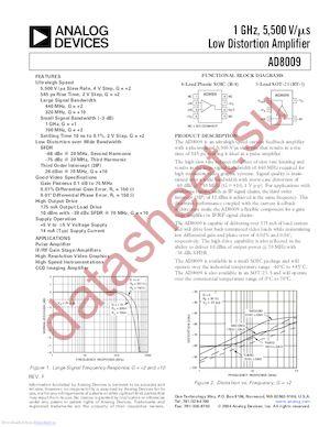 AD8009AR-EBZ datasheet скачать даташит