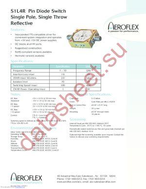 S1L1R-RC datasheet скачать даташит