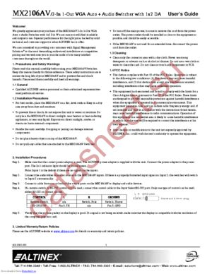 MX2106AV datasheet скачать даташит