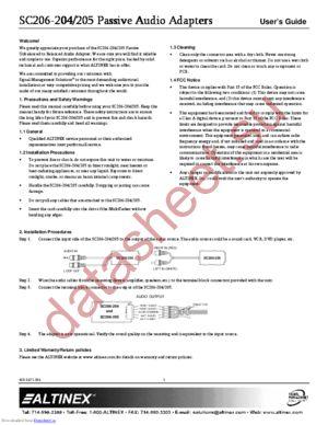 SC206-205 datasheet скачать даташит