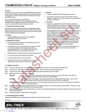 VA6803SX datasheet скачать даташит