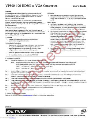 VP500-100 datasheet скачать даташит
