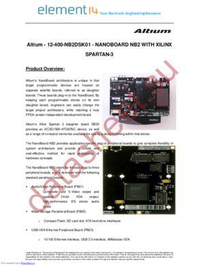 12-400-NB2DSK01-DB30 datasheet скачать даташит
