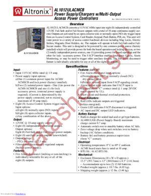 AL1012ULACMCB datasheet скачать даташит