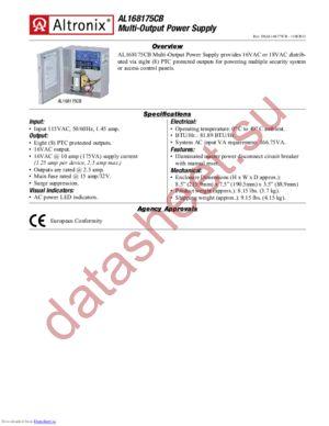 AL168175CB datasheet скачать даташит