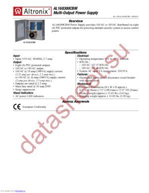 AL168300CBM datasheet скачать даташит