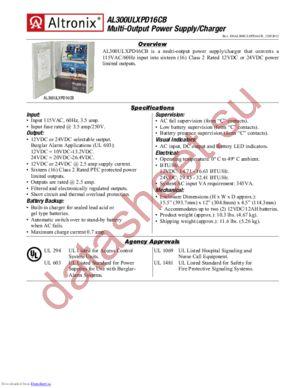 AL300ULXPD16CB datasheet скачать даташит