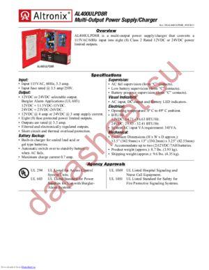 AL400ULPD8R datasheet скачать даташит
