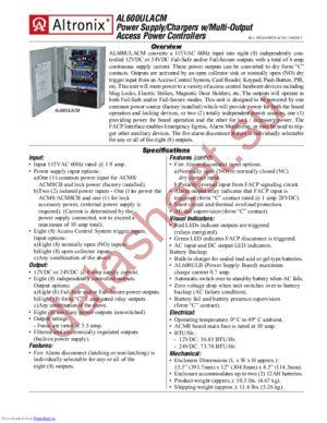 AL600ULACM datasheet скачать даташит