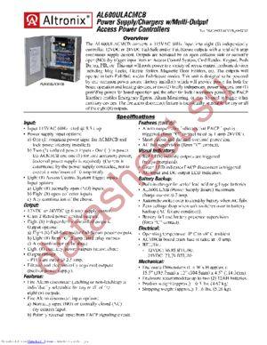 AL600ULACMCB datasheet скачать даташит