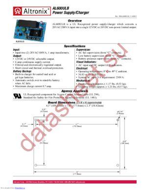 AL600ULB datasheet скачать даташит
