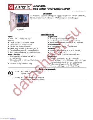 AL600ULPD4 datasheet скачать даташит