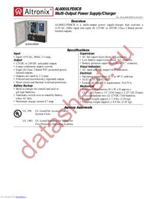 AL600ULPD8CB datasheet скачать даташит