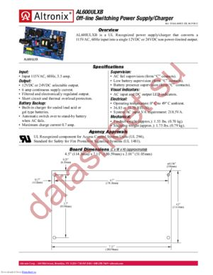 AL600ULXB datasheet скачать даташит