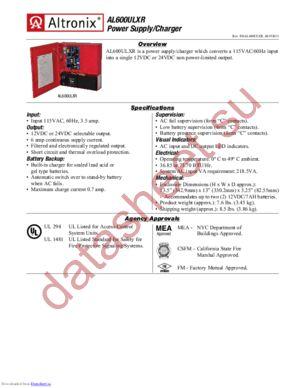 AL600ULXR datasheet скачать даташит