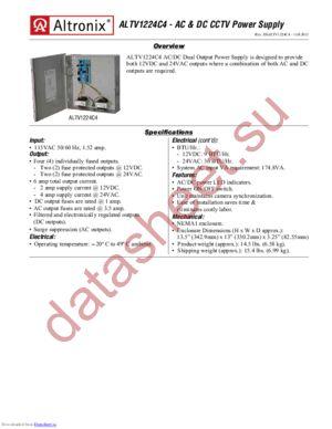 ALTV1224C4 datasheet скачать даташит
