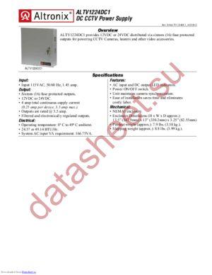 ALTV1224DC1 datasheet скачать даташит