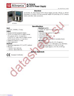 ALTV2416 datasheet скачать даташит
