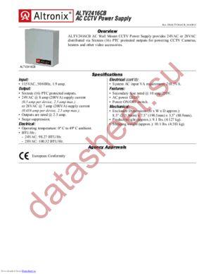 ALTV2416CB datasheet скачать даташит