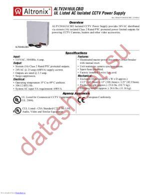 ALTV2416ULCBI3 datasheet скачать даташит