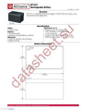 BT126 datasheet скачать даташит